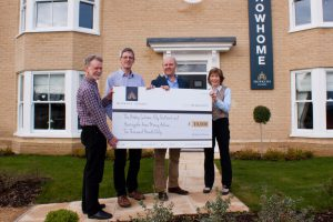 Hopkins Homes Presenting the Cheque to the Charity of the Year