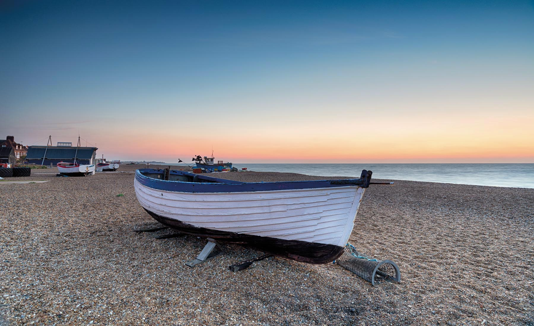 A Boat On A Beach In Suffolk
