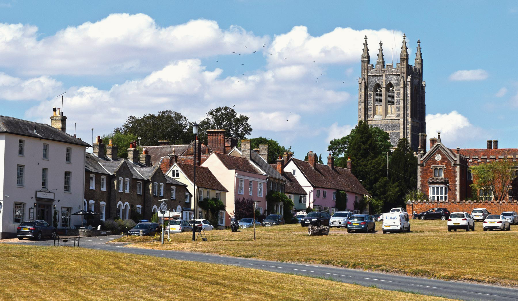 View Of A Church In Suffolk