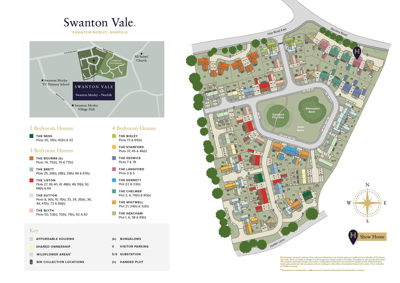 Swanton Vale Site Plan Swanton Morley Hopkins Homes